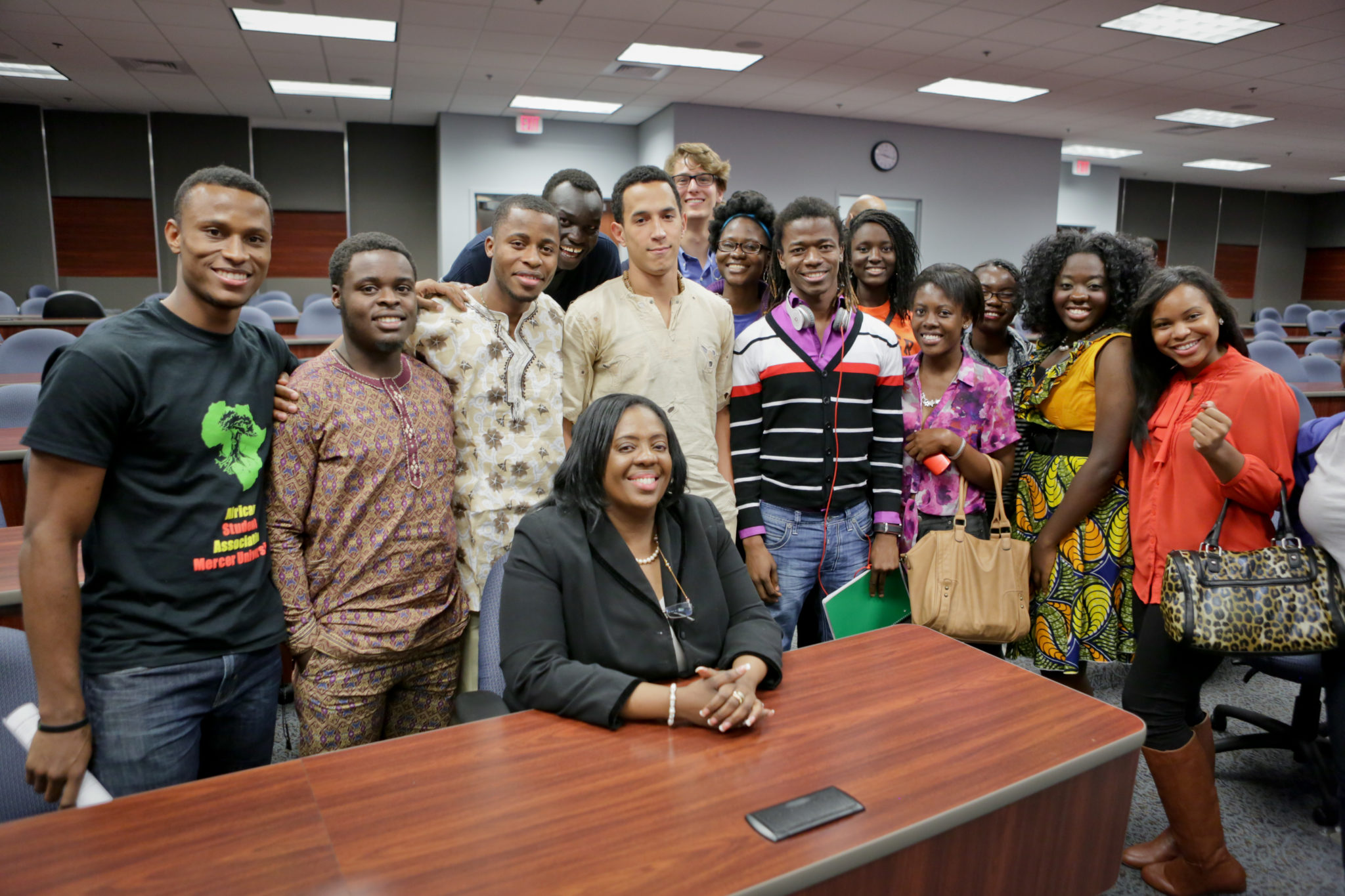 2012 Honorable Amina Salum Ali, African Union Ambassador with students