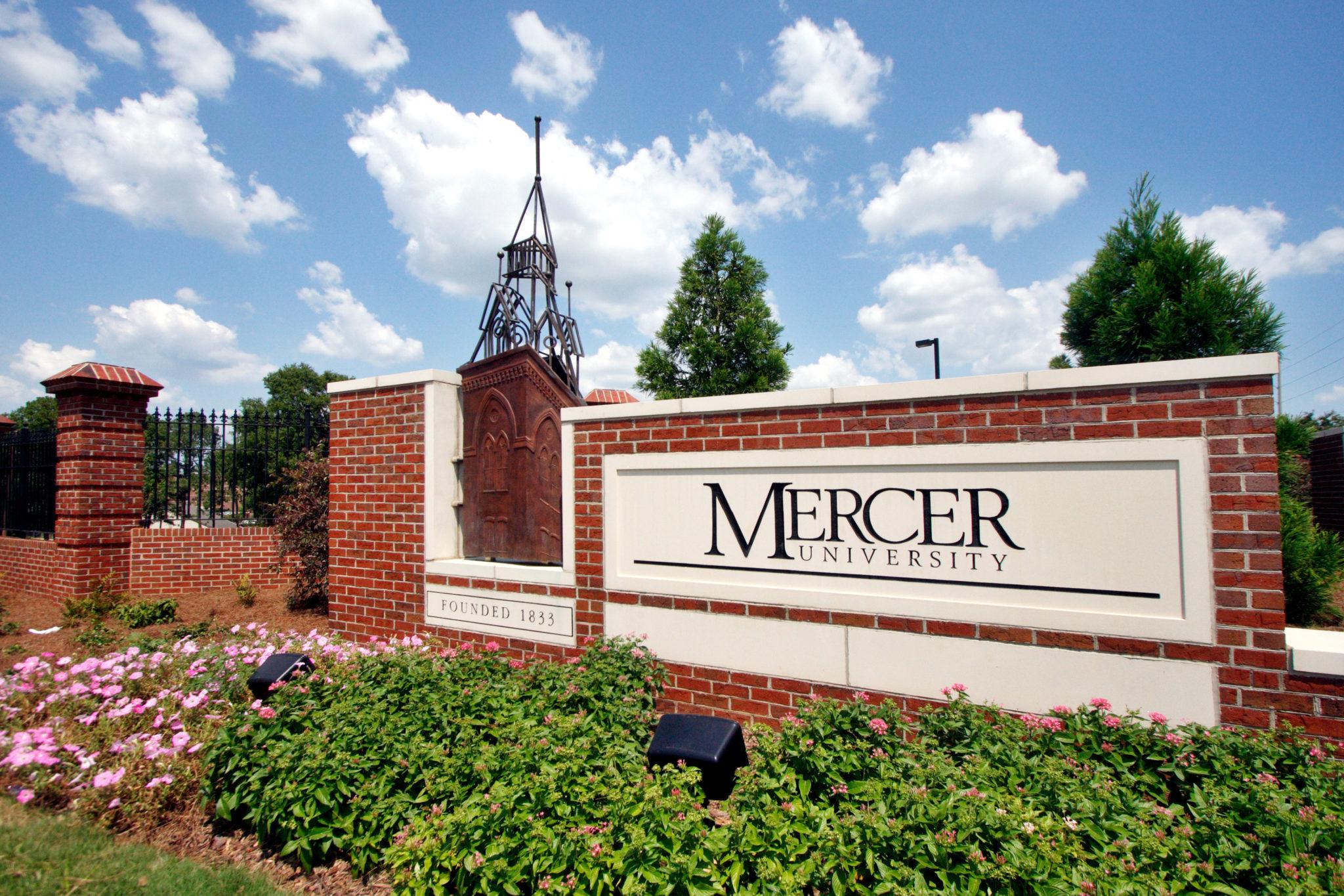 Entry sign to Mercer University