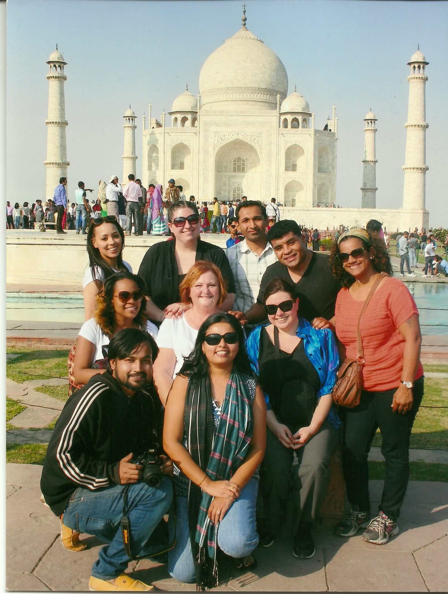 Students on a study abroad trip in India