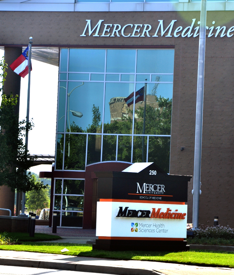 The front of the Mercer Medicine building.