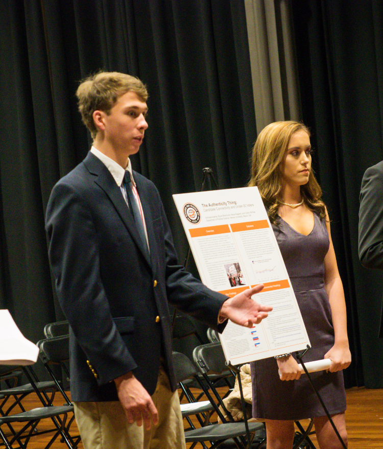 Students present their Political Science research