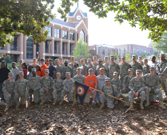 A group of Mercer ROTC cadets