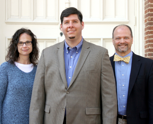 Southern Studies professors, from left, are Dr. Sarah Gardner, Dr. David Davis, and Dr. Doug Thompson.