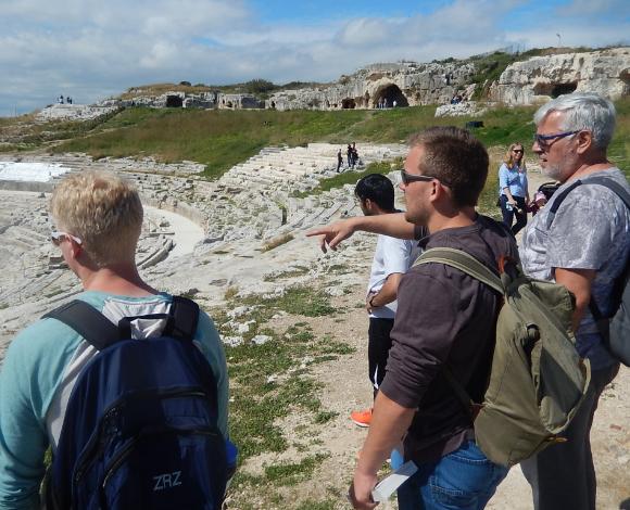 Students visit an ancient civilization