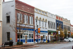 Second Street in downtown Macon, Georgia