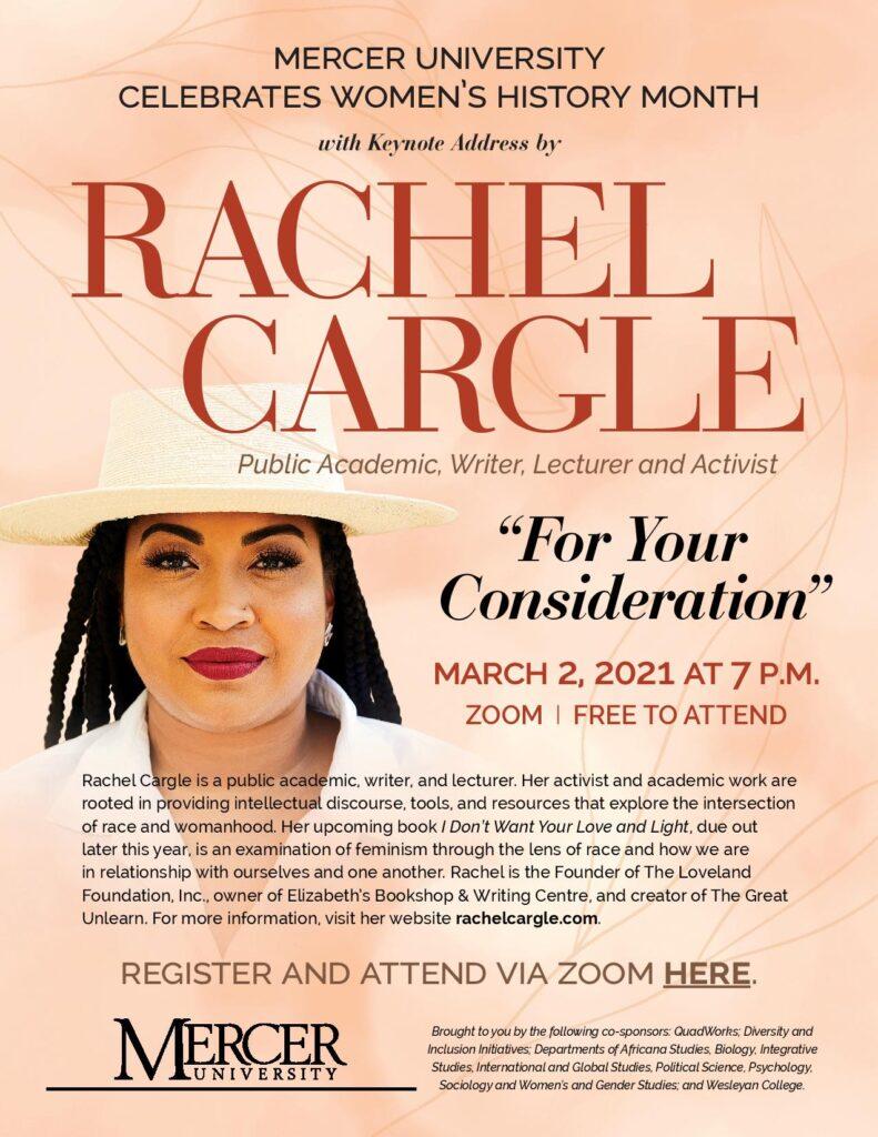 Rachel Cargle flyer